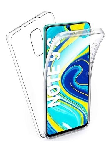 MobilCadde Eiroo Protection Xiaomi Redmi Note 9S 360 Derece Koruma Şeffaf Silikon Kılıf Renkli